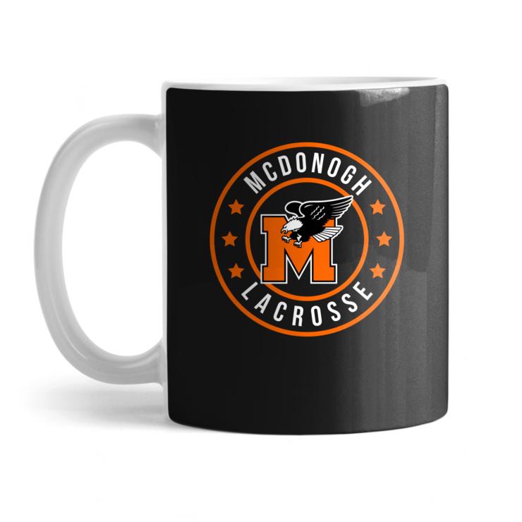 McDonogh Eagles Lax Badge Mug