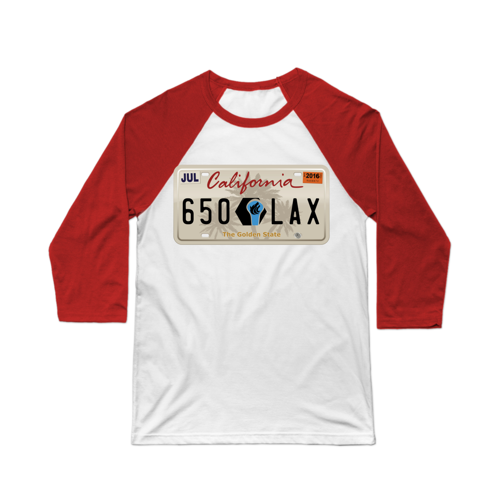 License to Lax California Baseball Tee