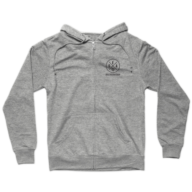 GEA Black Logo Zip Hoodie