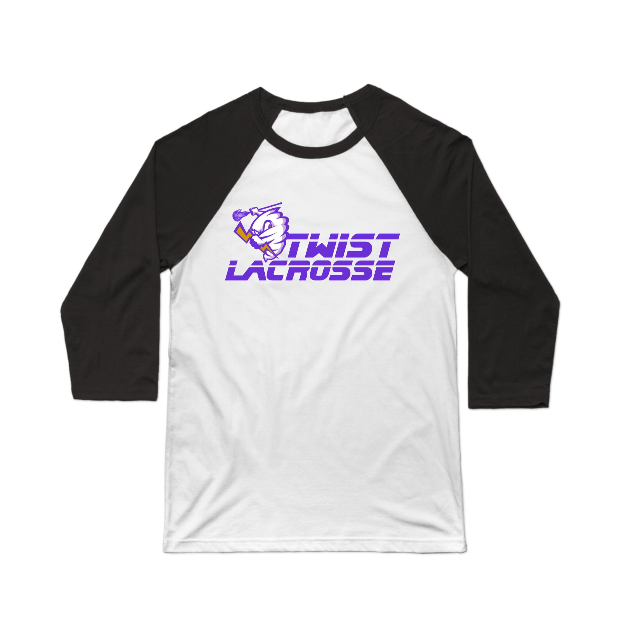 """Twist Lacrosse """"Baseball"""" Tee"""