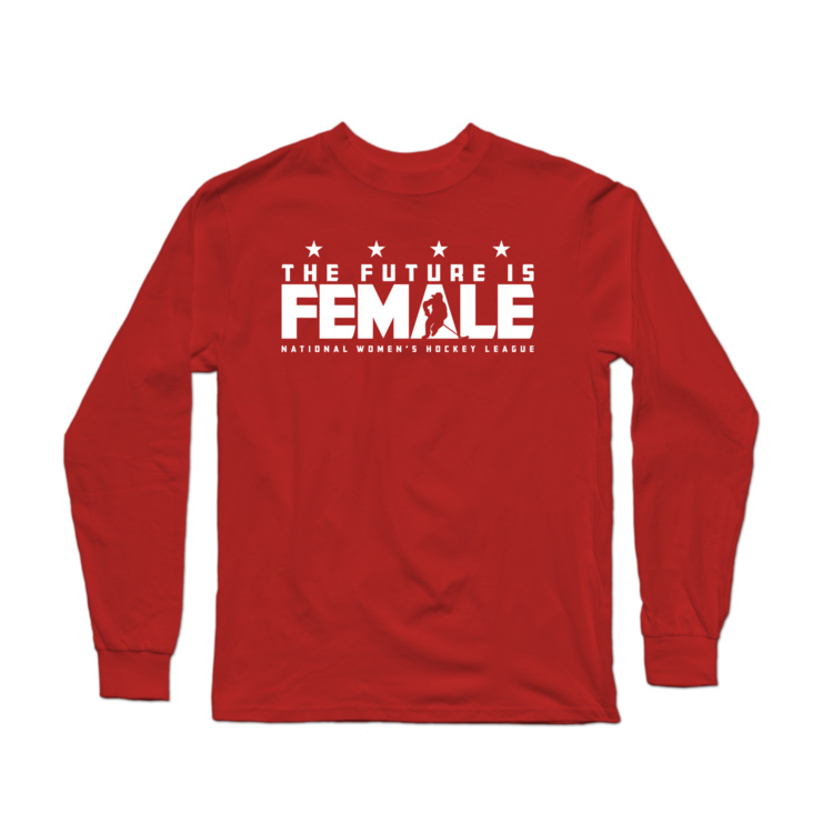 The Future is Female (Hockey) Longsleeve Shirt